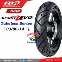 Ban Luar Federal FDR 100/80-14 100/80 325 Ring 14 Tubeless Sport ZEVO