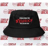 Topi Bucket Hat distro custom pura2 nyahoo wae lah