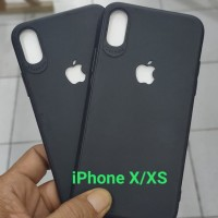 Case iPhone X/XS Logo Apple Bolong Dof Black Soft Case Slim