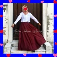 Rok Diandra Umbrella Skirt Katun Baloteli Banyak Pilihan Warna