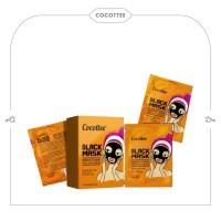 COCOTTEE box black mud face mask bpom / brightening peel off mask