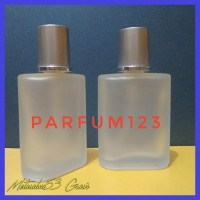 Terlaris Botol Parfum Semprot Spray Kaca 30Ml Doff Tutup Silver Aqua