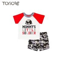 Baju Anak Laki-Laki Torio Mommy's Lil Soldier Casual Set