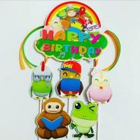 Didi And Friends Topper Cake Birthday/Hiasan Kue Ulang Tahun