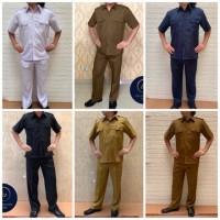 Seragam Setelan Semi Wool Pemda PNS, Safari Pemda Pria, baju seragam