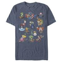 Baju Kaos Nintendo Mario Kart Racers Action Mach Up Poster T-Shirt