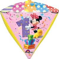 Anagram International Minnie Age 1 Diamondz Balloon Pack, 17, Multico