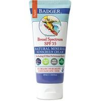 Badger - SPF 35 Zinc Oxide Sport Sunscreen Cream - Unscented - Broad S
