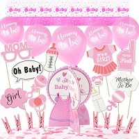 ARTIT Baby Shower Girl Pink Decorations Set Party Decor Supplies Bundl