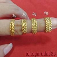 24K 23K LA LM Cincin emas asli london murni rantai rante selisih lilit