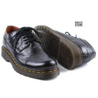 Sepatu Low Boots Docmart Pria Kulit Sapi Asli Outsole Karet Anti Slip