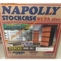 Lemari Plastik Napolly 4 susun laci Contac-400 Jati