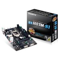 Jual MOTHERBOARD GIGABYTE H81M-S1 DDR3 SOCKET 1150 Limited