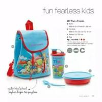 tupperware tiwi n friends tas sekolah tas anak tas bekal lunch box set