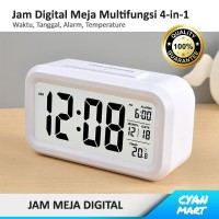 Jam Meja Digital Alarm Weker / Beker Clock Alarm Suhu 4-in-1