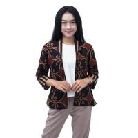 Batik Wanita Atasan Batik Blouse Bolero Size S - 5L JUMBO - L