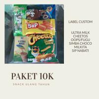 Paket Snack Ulang Tahun Hampers Souvenir Goodie Bag Chiki Jajanan Anak