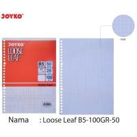 joyko loose leaf B5 100gr 50 lembar grid/dot/polos