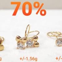 anting toge emas 70% 1.650
