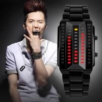 Jam Tangan Pria LED SKMEI 1013 BLACK Water resistant 30m