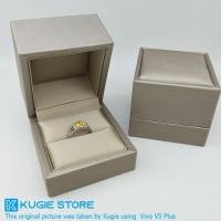 Kotak Perhiasan Tempat Cincin Bahan PU Leather