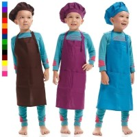 Paket Apron Celemek Anak dan Topi Koki Anak