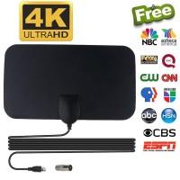 Taffware Antena TV Digital DVB-T2 4K High Gain 25dB - Black