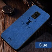 Soft Case Xiaomi Redmi Note 9 Pro Back DEER Cloth Canvas Cover Casing
