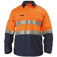 Baju Wearpack Kerja Safety Lapangan Proyek Tambang K3 Reflective 3M - Orange, S
