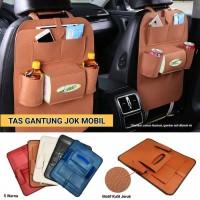 Car Back seat Organizer Kulit / Tempat Tisu Mobil