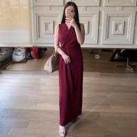 Baju Gaun Dress Panjang Wanita Cewek Tanpa Lengan Formal L427 Natalia