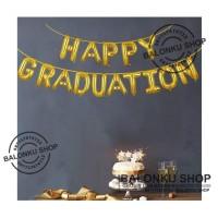 Balon Foil Happy Graduation / Balon Graduation Set / Balon Set Wisuda