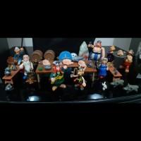 Asterix Obelix village meeting Vintage Action Figure set.