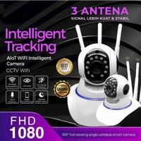 IP Kamera CCTV Yoosee Wireless IP Camera HD 10800P 3 Antena - Putih