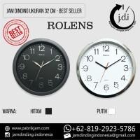 Jam Dinding Diameter 32 CM - List Silver - BEST SELLER