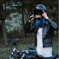 VENTOM Paisley Blue - Masker Motor Bandana Scarf Multifungsi