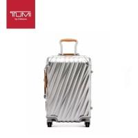 T U M I 19 Degree Aluminum International Carry-On - Texture Silver