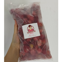 Strawberry Beku - Frozen Strawberry Moms Kitchen Asli Lembang 500 gram