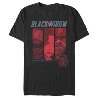 Baju Kaos Marvel Black Widow Character Panel T-Shirt