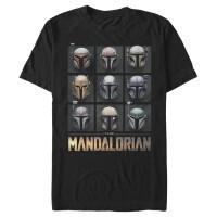 Baju Kaos Star Wars The Mandalorian Helmet Grid T-Shirt