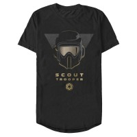 Baju Kaos Star Wars Jedi: Fallen Order Scout Trooper Helmet T-Shirt
