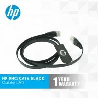 HP Cable LAN DHC-CAT6-FLAT Black - 1 Meter