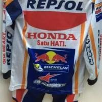 Baju Motor Gp Anak - Stelan Motogp Repsol Honda Promo !!!
