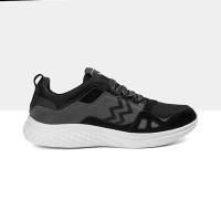 Athletica by Geoff Max - AT 555 Black Grey   Sepatu Running