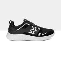Athletica by Geoff Max - AT 555 Black White  Sepatu Running