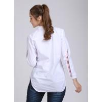 atasan wanita warna putih baju casual cewek G3F kaos blouse wanita