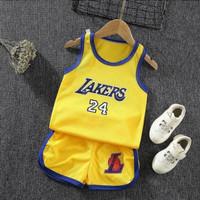 baju bayi setelan basket anak lakers 24 (model 2)