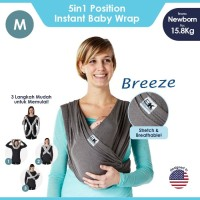 Baby K'tan Baby Carrier Breeze Charcoal M