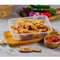 Family Meals Porsi Gurame Goreng Tepung Menu Catering Nasi Kotak Kotak