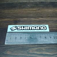 Cutting Sticker Shimano dua warna 8cm bahan oracal